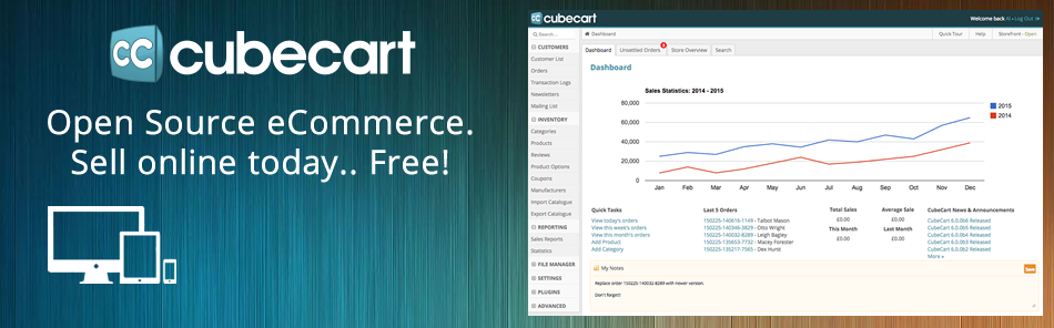 Open Source eCommerce. Sell online today. Free!