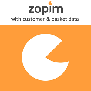 Zopim Live Chat with customer and basket data