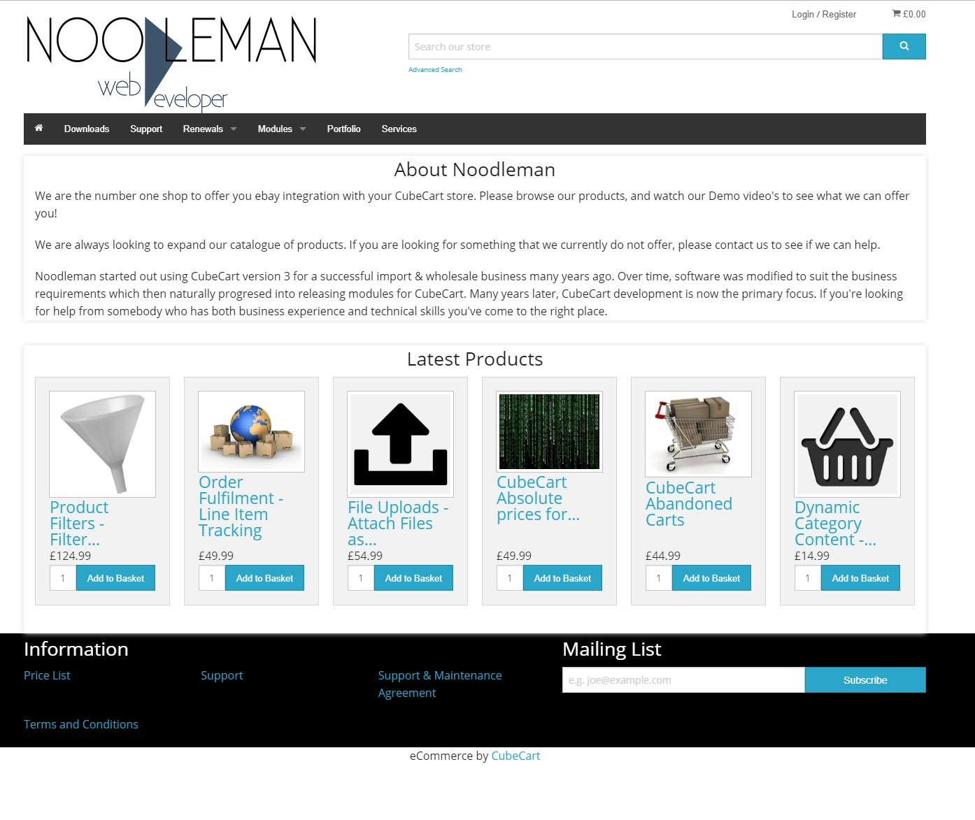 Noodleman.co.uk Store Theme