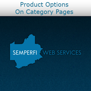 Product Options On Category Pages